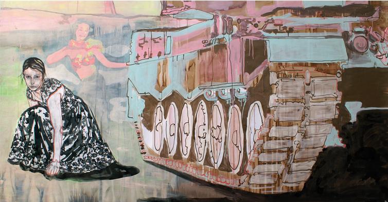 Wonderland 2006 tekening op papier  136 x 256cm