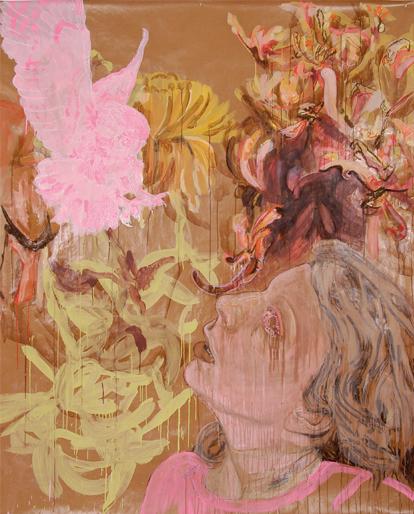 Birds of pray 2006 tekening op papier 150 x 120 cm