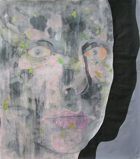 Zonder titel 2005 tekening op papier 150 x100 cm