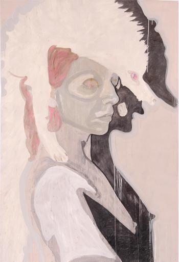 Zonder titel 2005 tekening op papier 210 x 100 cm