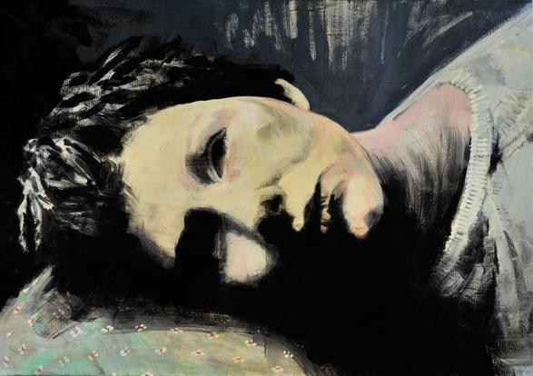 Feel the waste 2009 schilderij op doek 70 x 100 cm