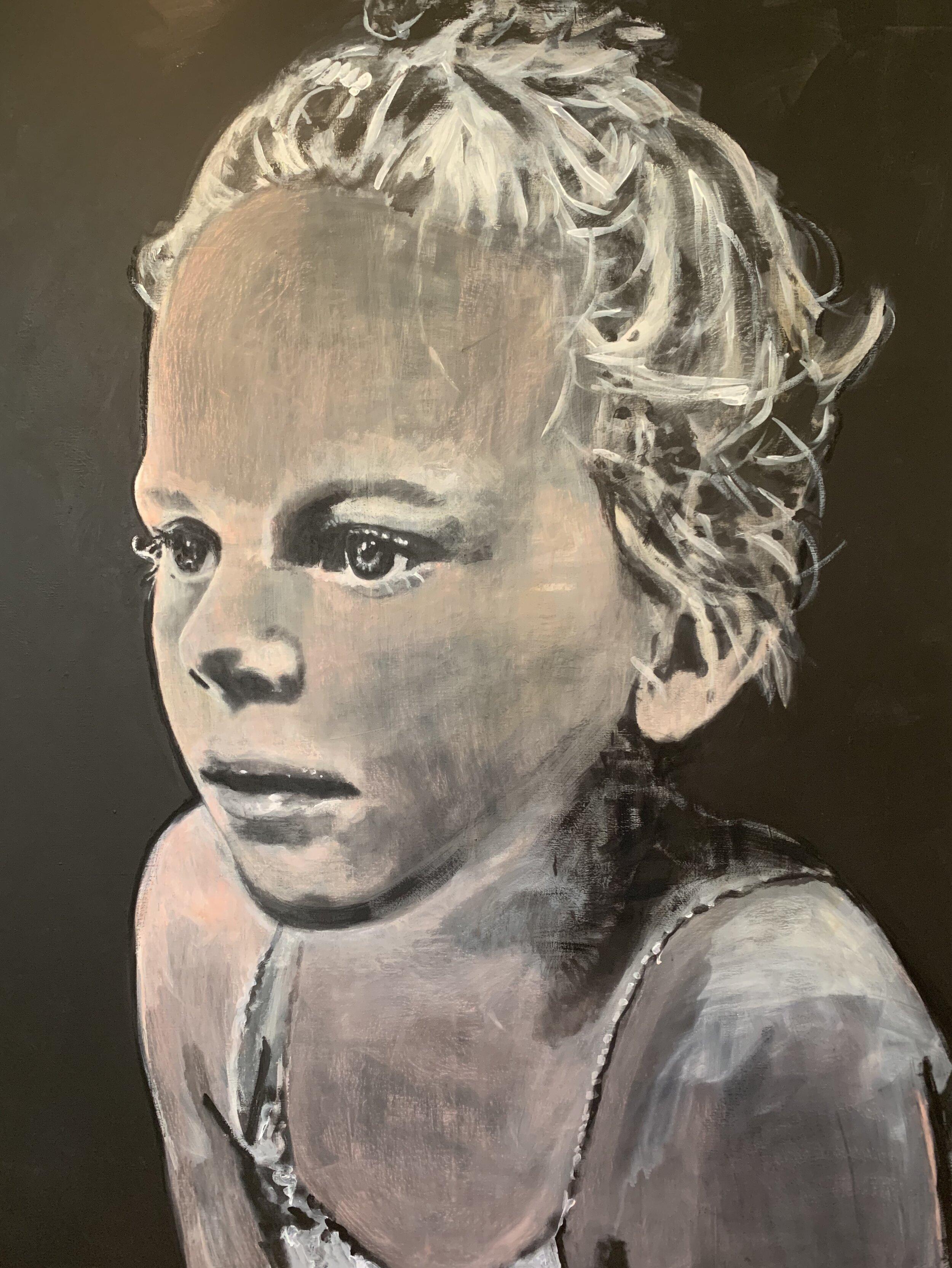 Beautiful Soul 2019 200 x 150 cm  Tempera, acryl en houtskool op doek