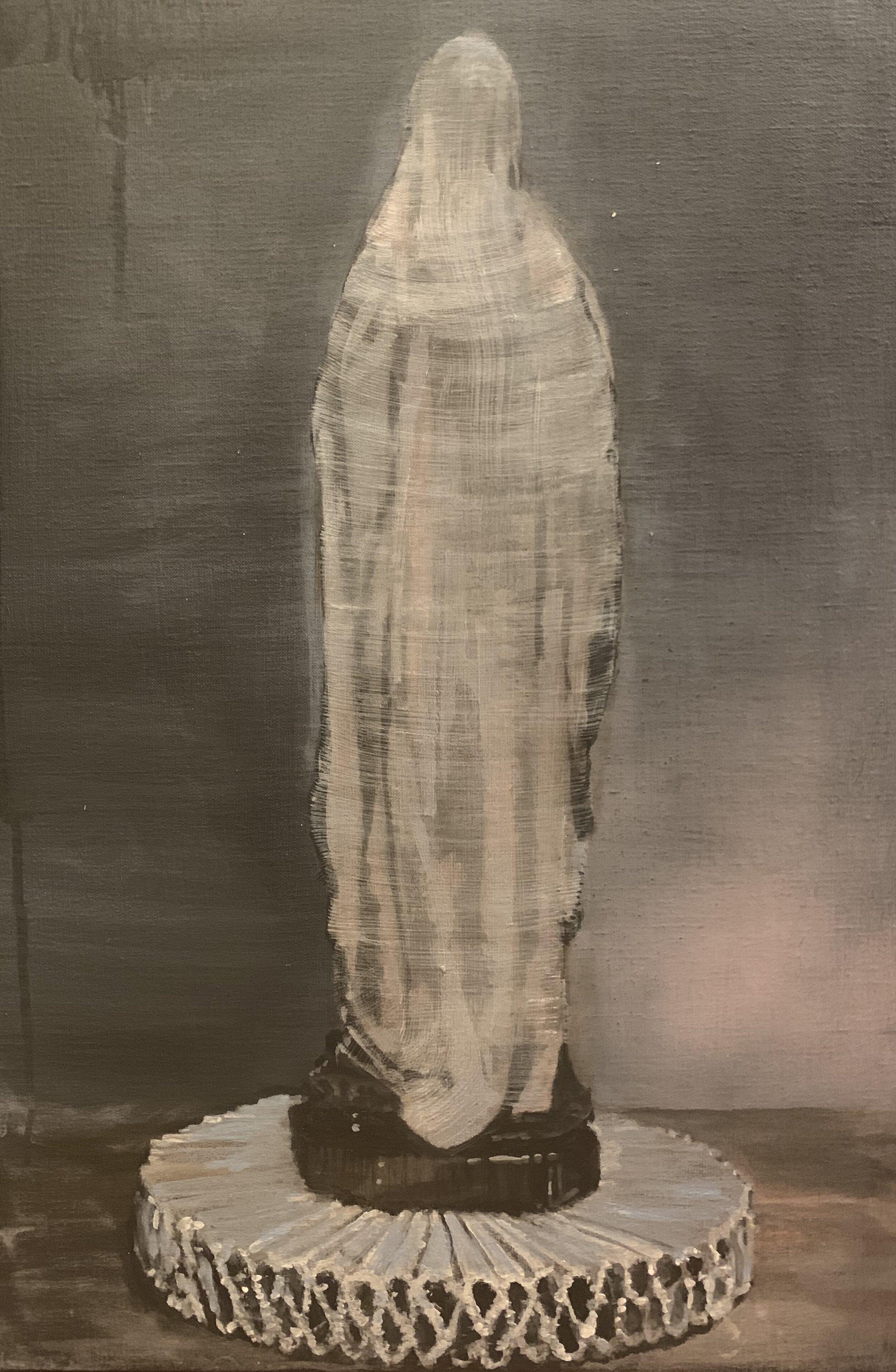 Beside the truth 2019  40 x 60 cm  Tempera, acryl en alkyd op doek