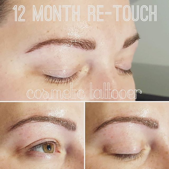 Book your annual re-touch appointment 0427 403 543 . . . . #powderbrow #hairstrokes #cosmetic #beauty #beautifulbrows #cosmetictattooer #tattooedladies #girlswithtattoos #feathertouchbrows #taylorslakes #keilor #eyeliner #healedeyeliner #eyetattoo #eyelinertattoo