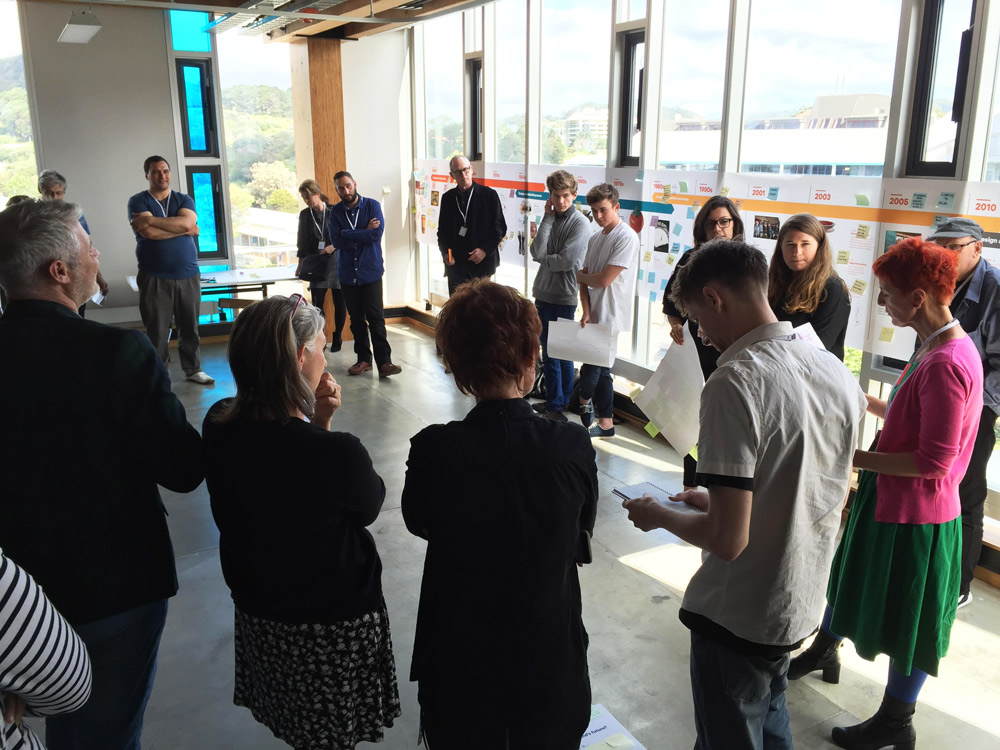 A workshop on the future of design education that Margaret co-chaired and developed in NZ (Helix).