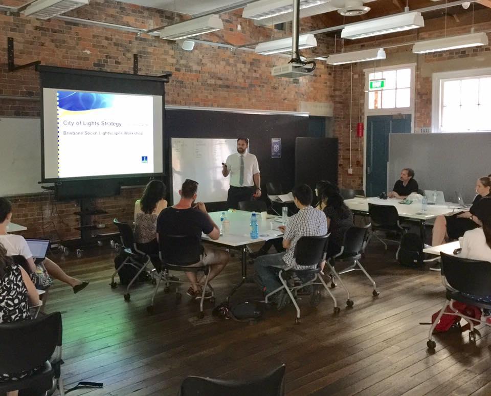 During the Configuring Light Workshop in Brisbane.