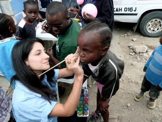 Aline undertaking field work in Kenya.