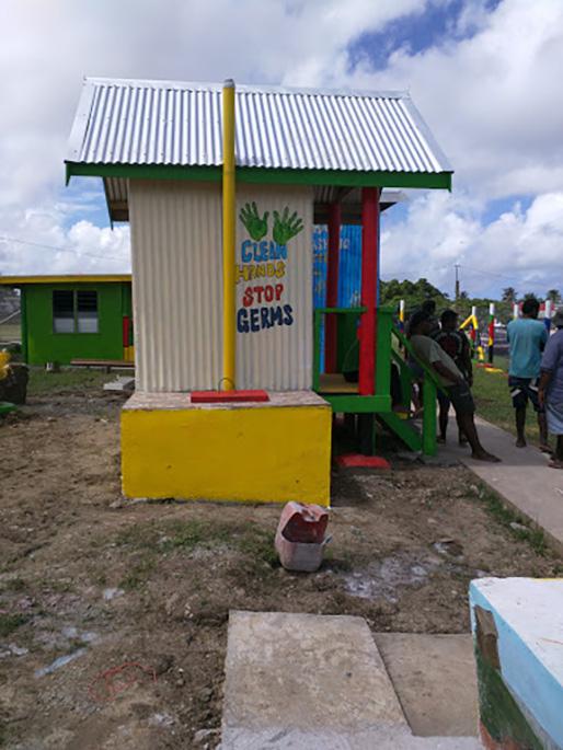 A sanitation enterprise in Fiji.