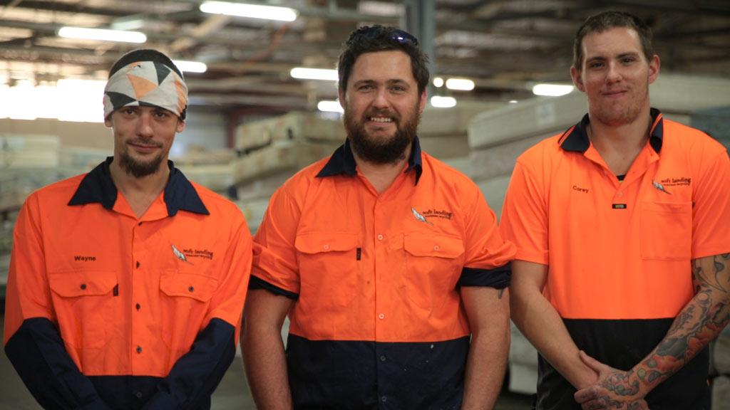 Soft Landing mattress recycling crew at Bellambi NSW