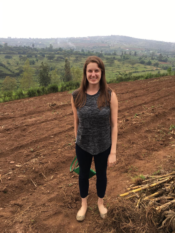 Kate at Gardens For Health in Rwanda.