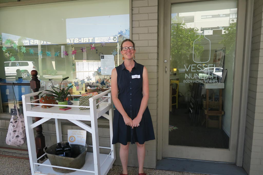 Marion Glover of Vessel Nundah welcomed participants to her BYO container shop.
