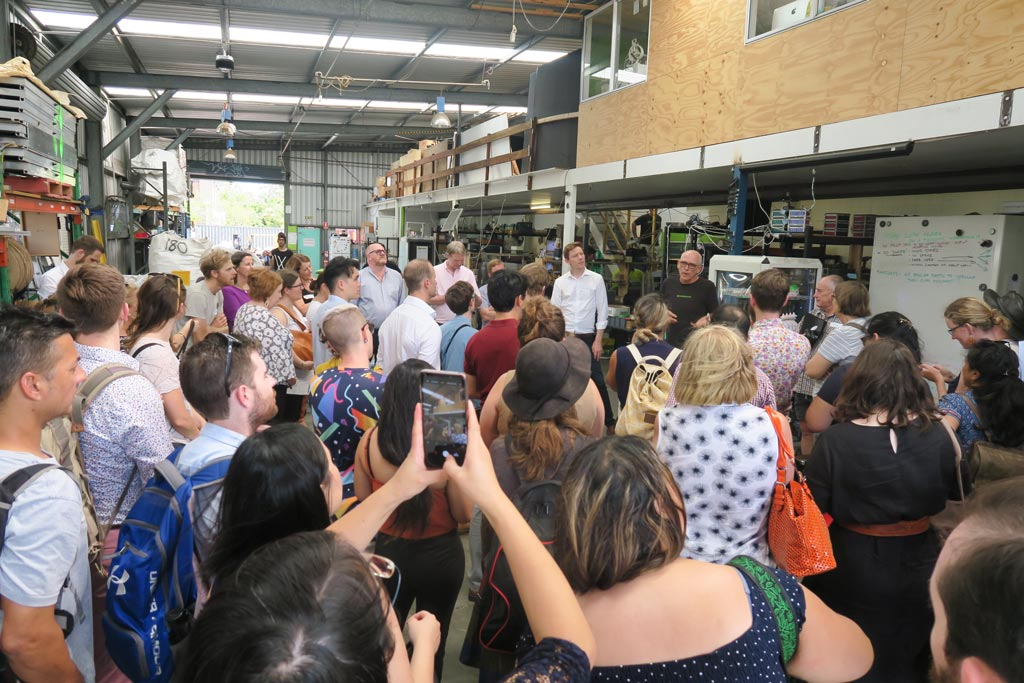 Visiting Substation33 during the Brisbane Social Enterprise Tour.