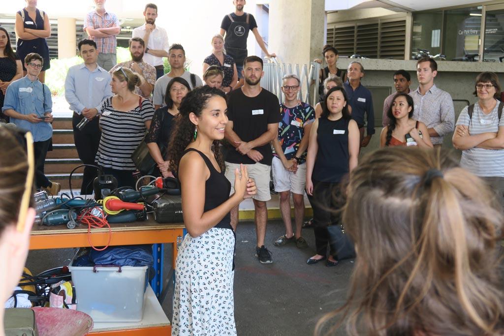 Sabrina Chakori sharing insights on the Brisbane Social Enterprise Tour.
