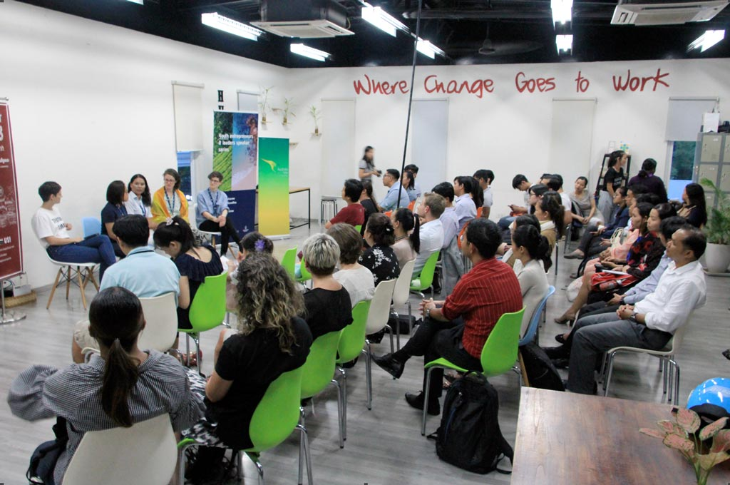 Q&A on 'branding for social enterprises' held with SHE Investments and Impact Hub Phnom Penh.