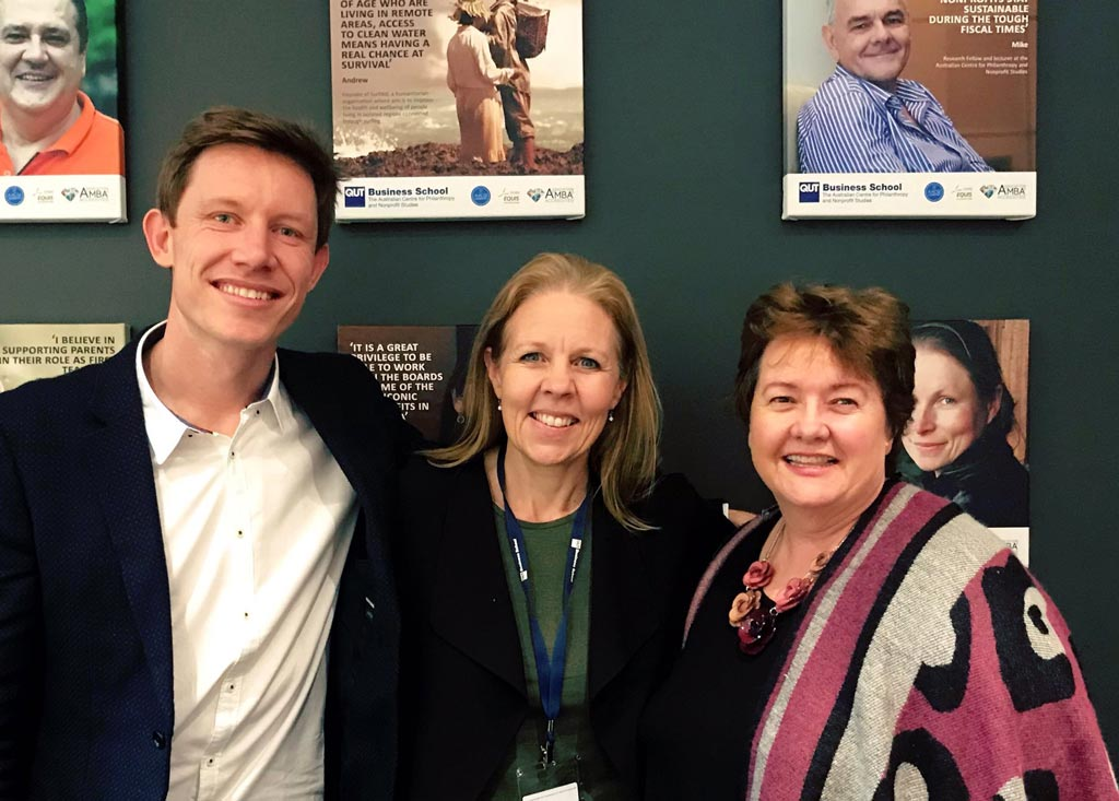 Tom Allen, Dr Ruth Knight & Assoc. Prof. Wendy Scaife.