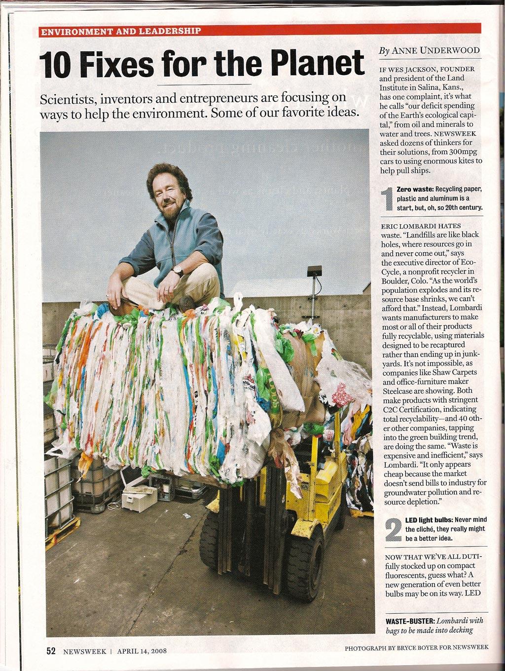 "International ""Earth Day"" Issue of Newsweek, 2008."