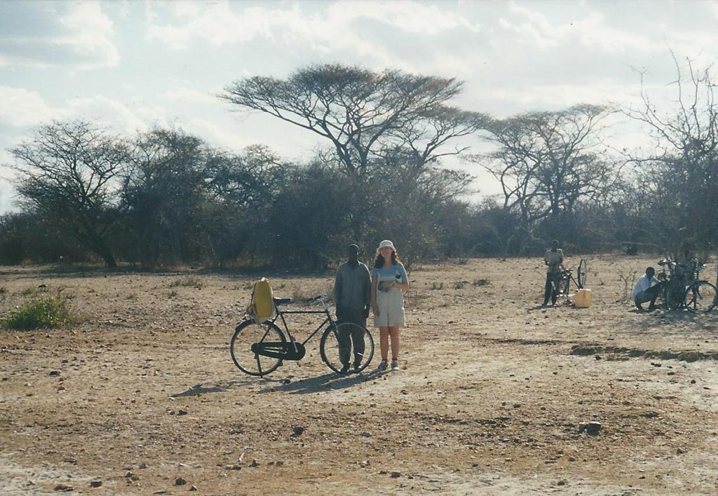 Paula working in Tanzania in 1997.