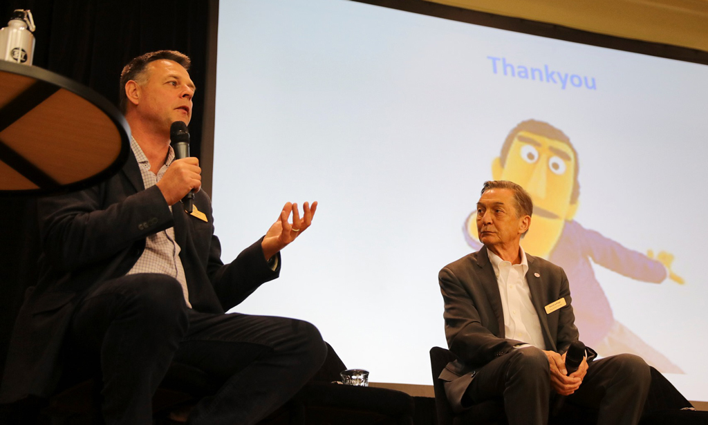 Matt Pfahlert and David LePage closed the session with an audience Q&A.
