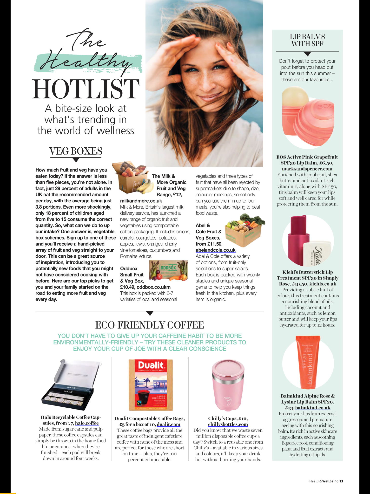 The Healthy Hotlist (Health & Wellbeing- 04/19) -