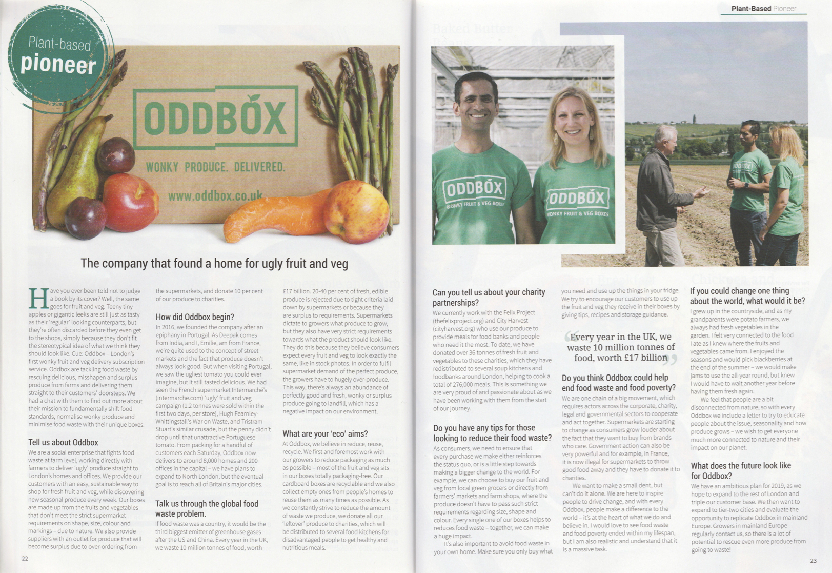 The company that found a home for ugly fruit and veg (PlantBased Magazine - 05/19) -