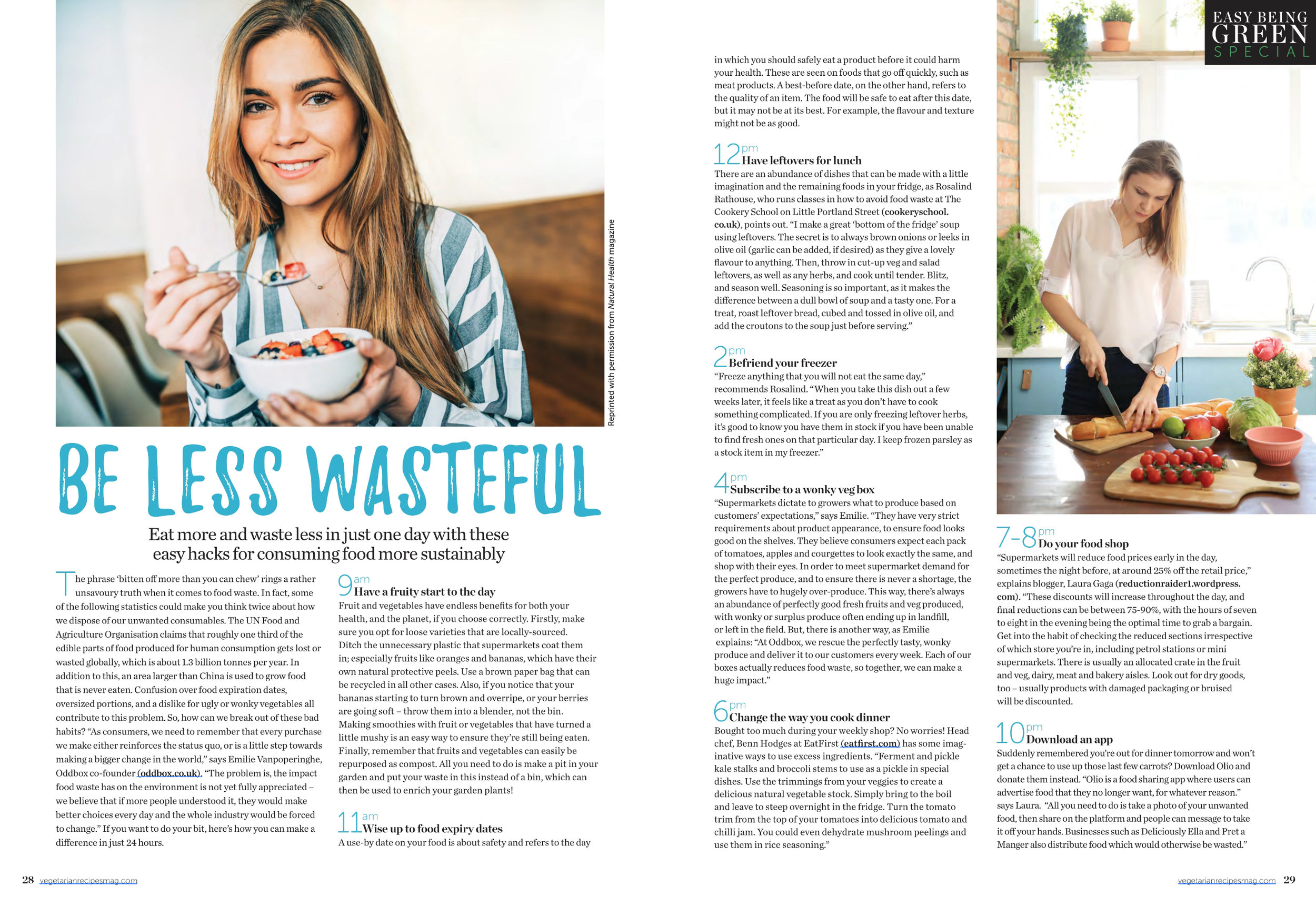 Be less wasteful (Veggie Magazine - 05/2019) -