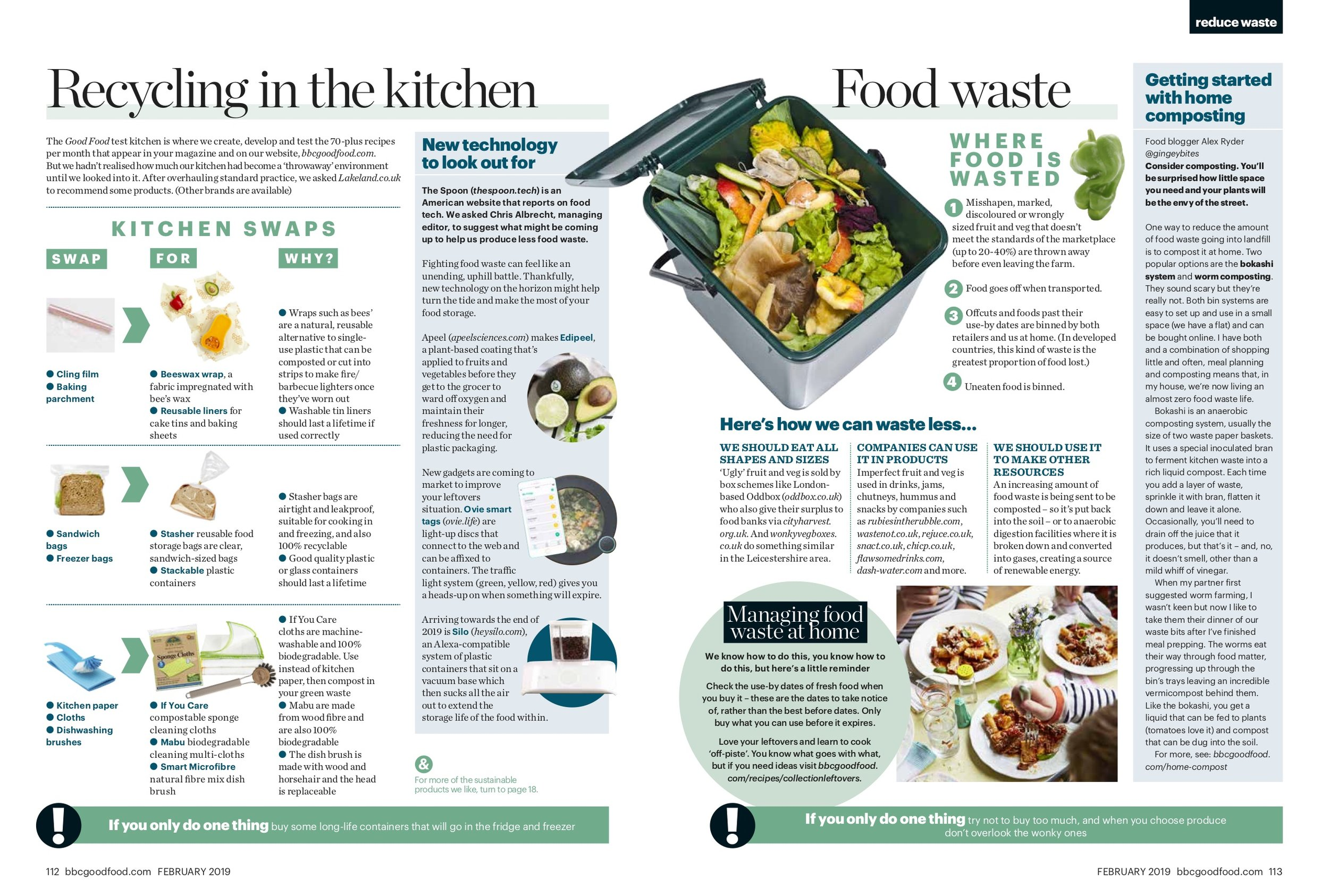 Food waste (BBC Good Food - 01/19) -