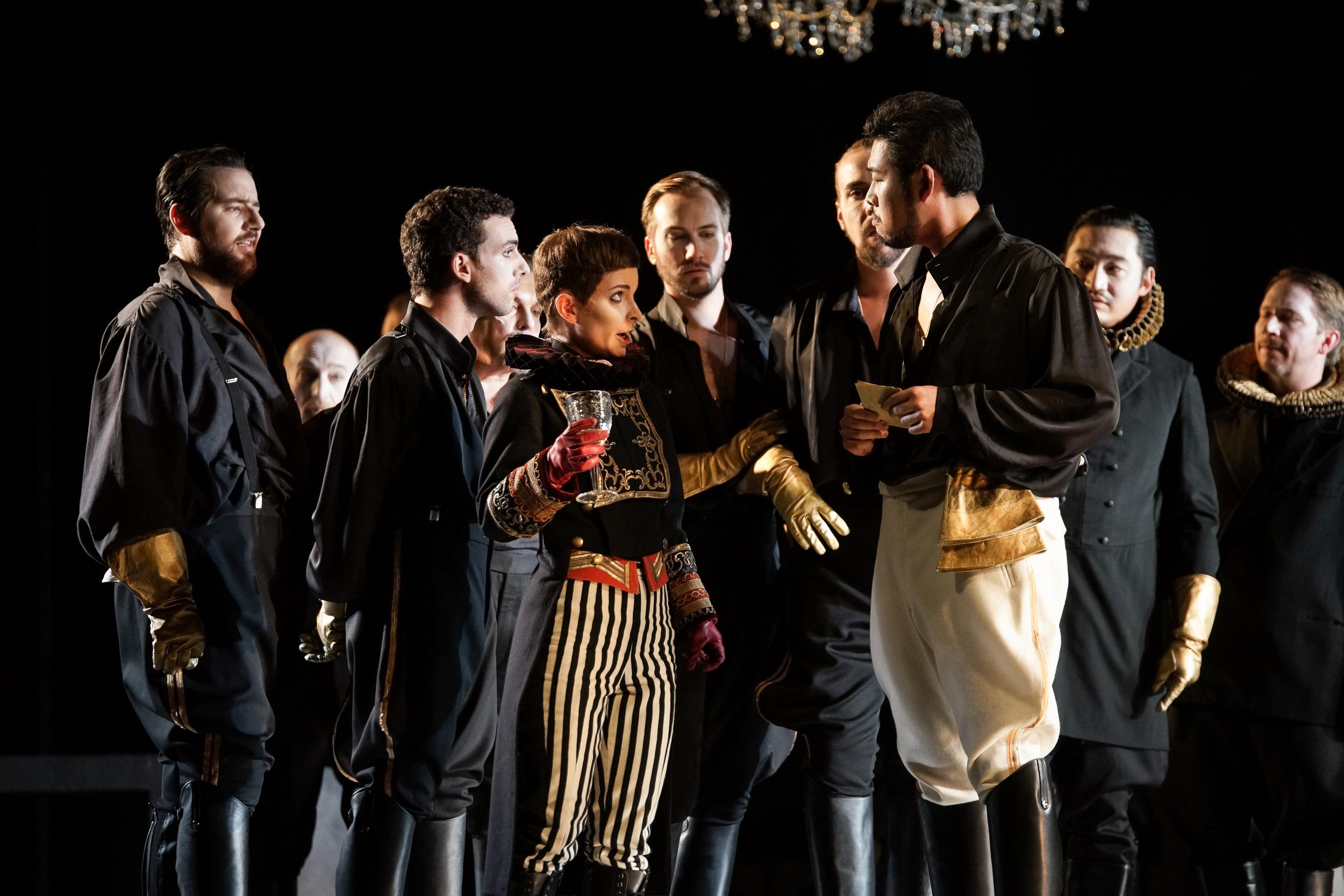 "Urbain in ""Les Huguenots"", Oper Kiel 2016/17, ML: Daniel Carlberg, R: Lukas Hemleb"