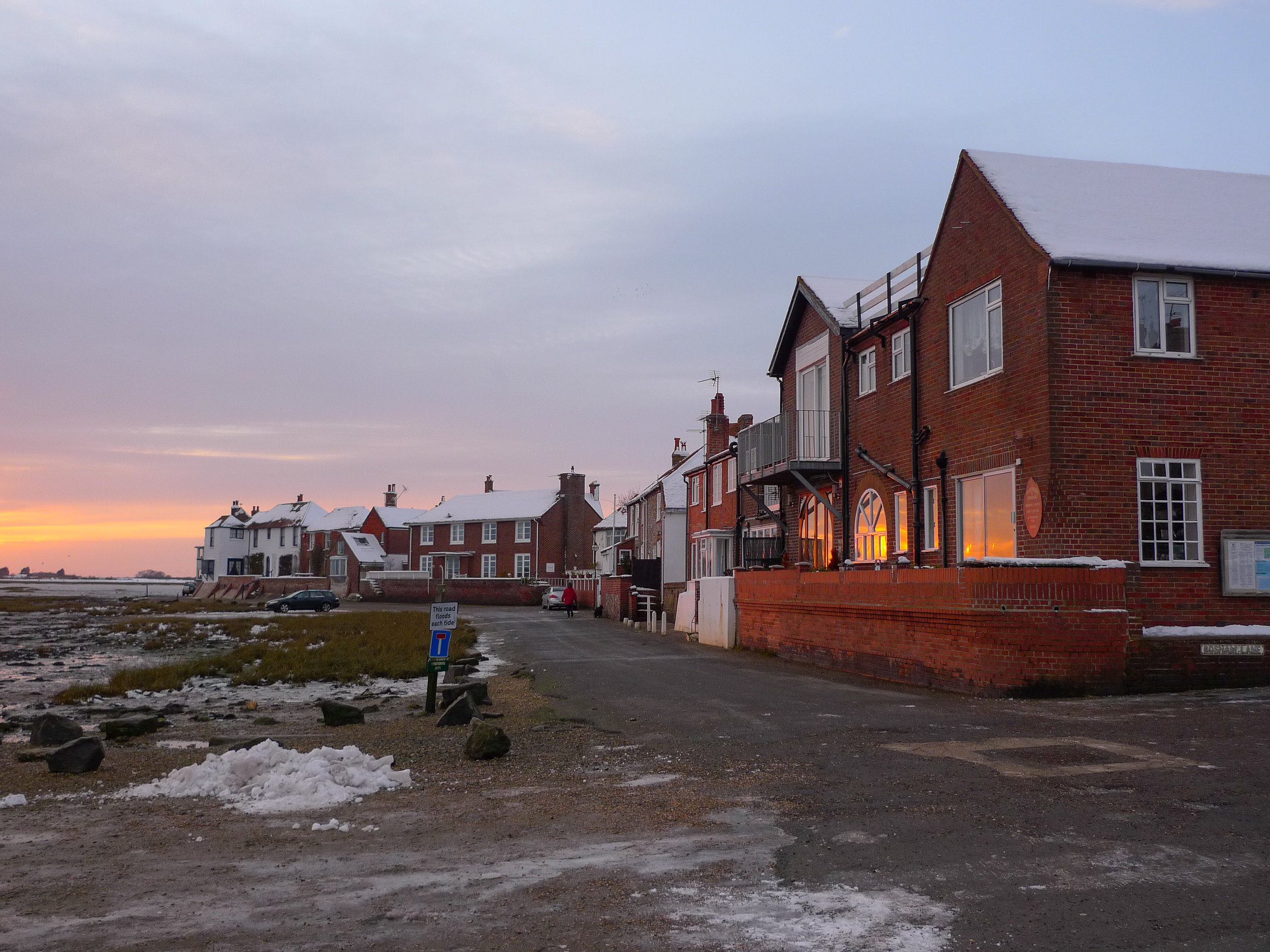 Winter - no parking at high tide!