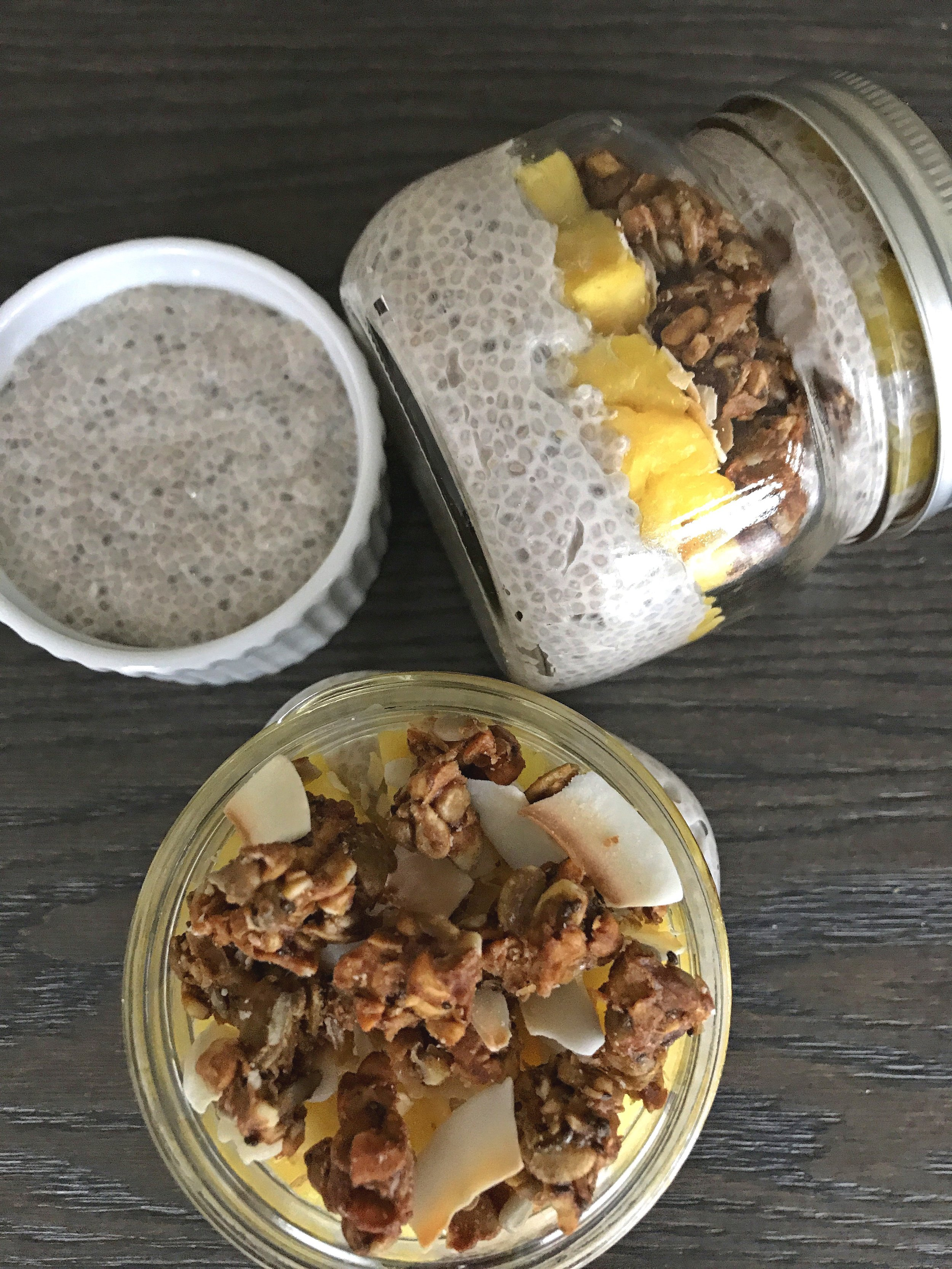 Packed as portable breakfast parfaits