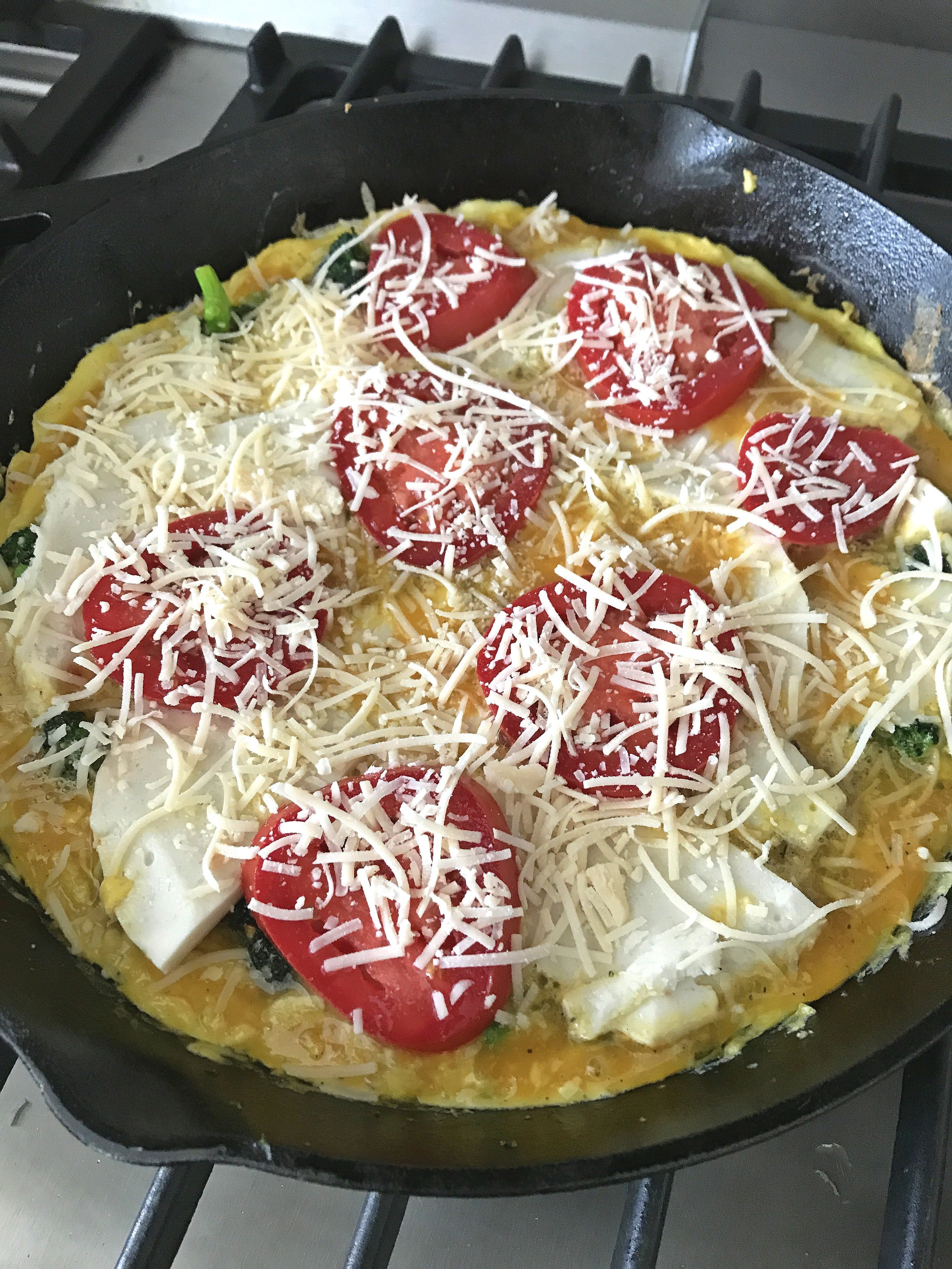 BROCCOLI TOMATO & CHEESE FRITTATA COOKING.jpg