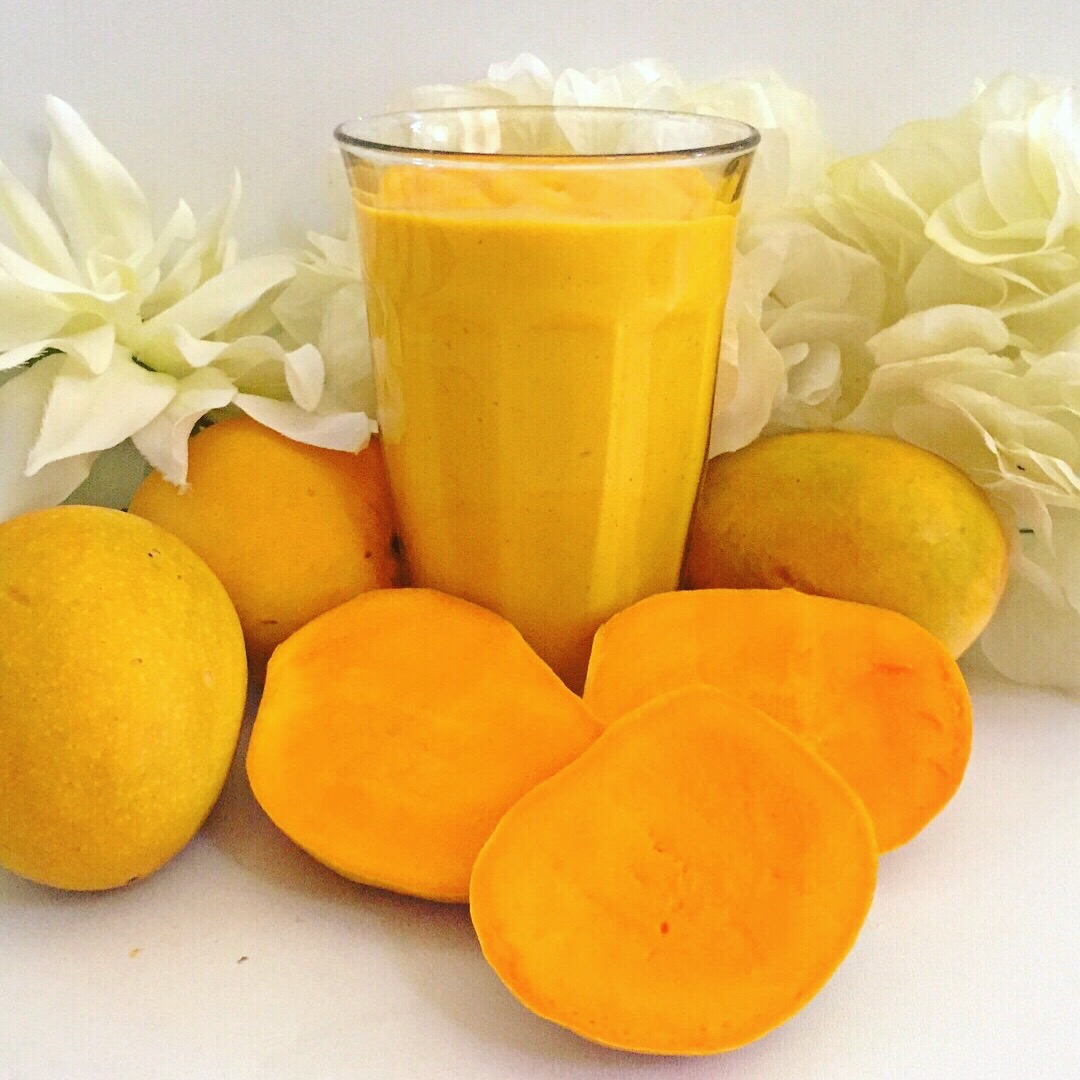 Mango Madness Smoothie made with Indian Alphonso mangoes.