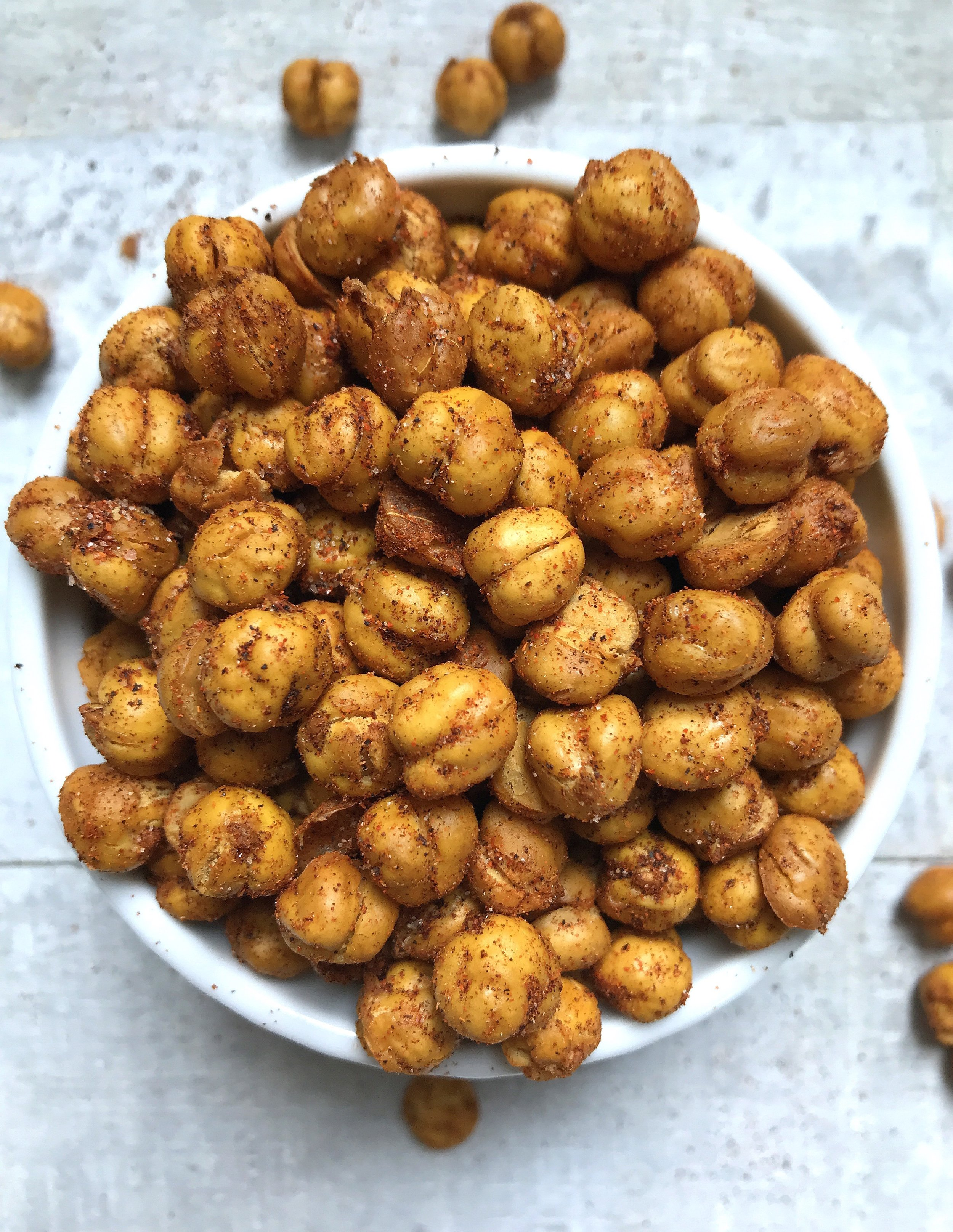 Spicy Air-Fried Chickpeas