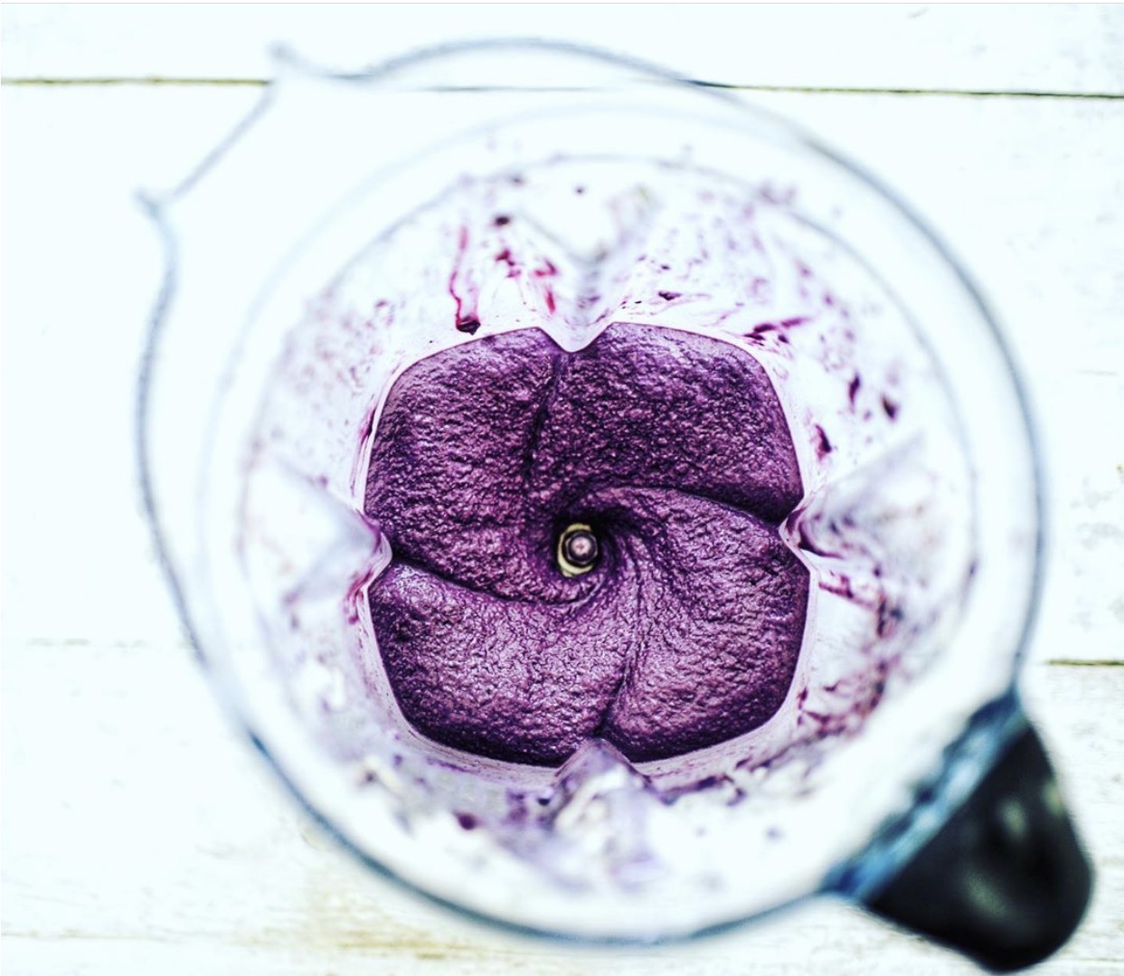 Blending the ingredients in the Vitamix. Photo credit @terianncarty.