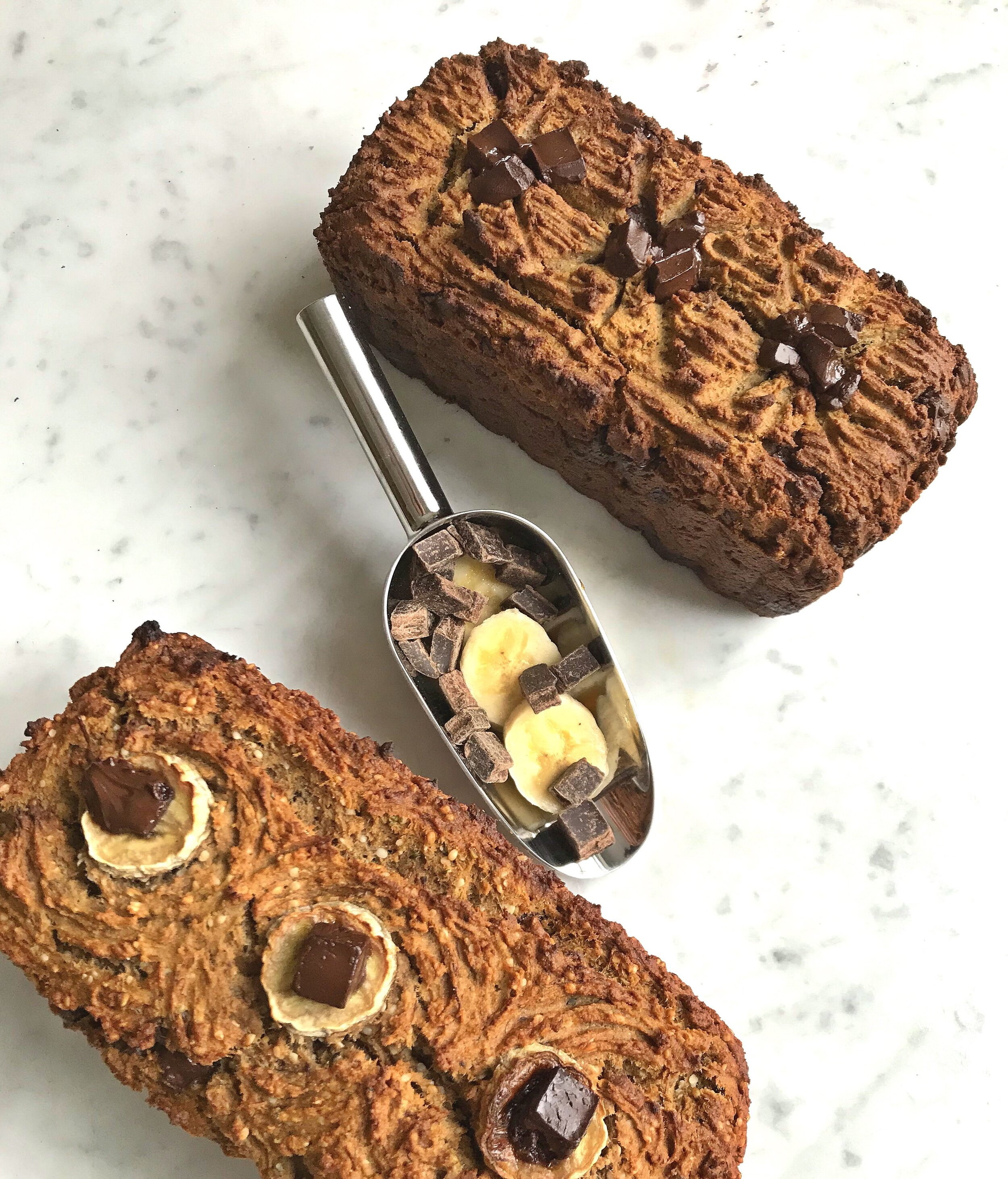 Nut-free Grain-free Chocolate Chunk Banana Bread