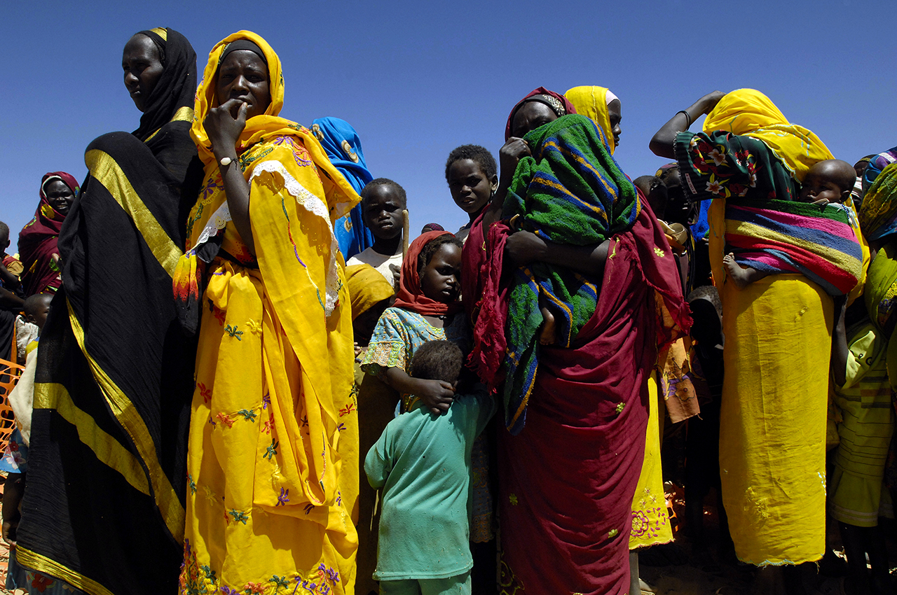 Refugees settled years ago in Birak, Chad. They do not want to move to camp inland in order to stay close to Sudan.