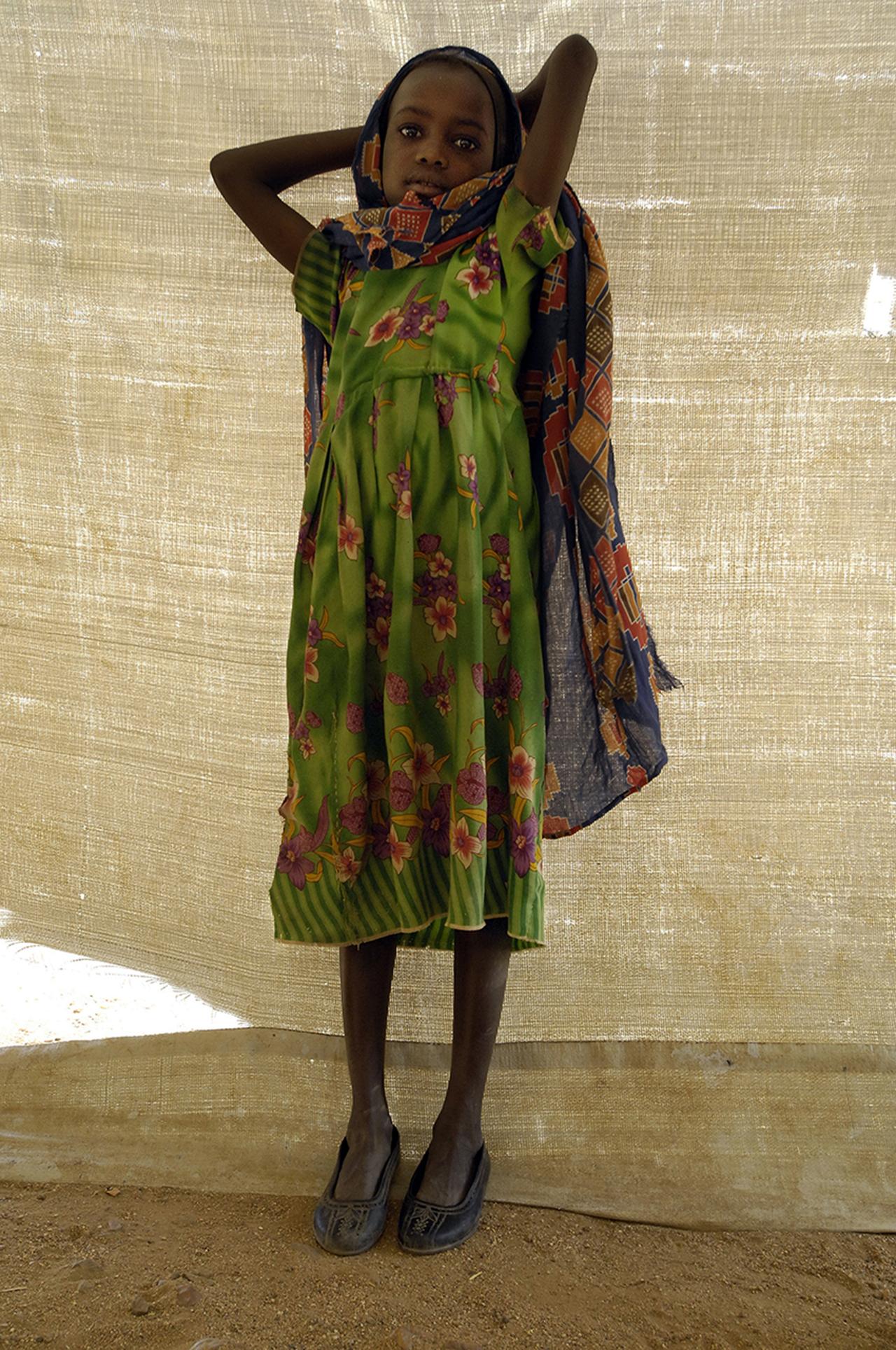 Kounoungo Medical Center, a young refugee.