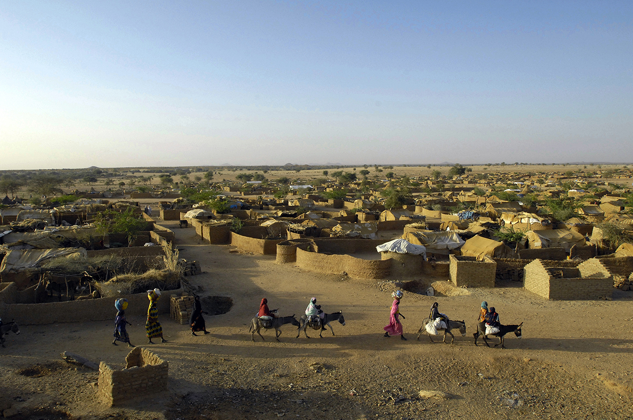 Ancient area of Kounougo refugee Camp, founded in February 2004.