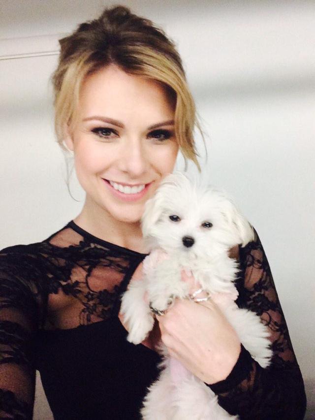 Me with my Mini Maltese - Daphne.