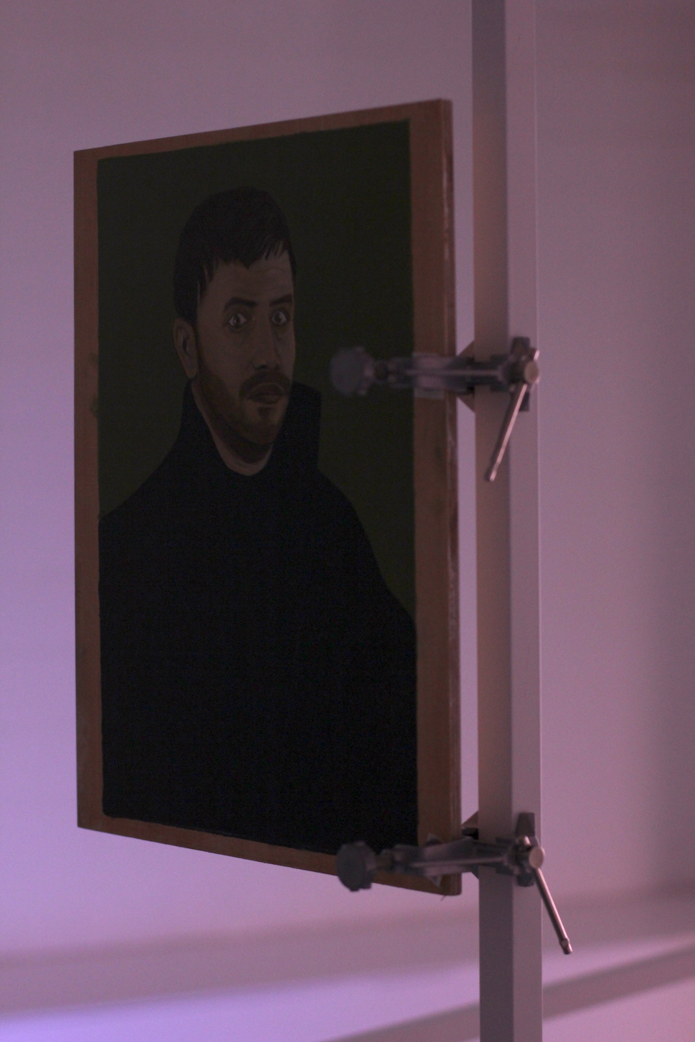 - Nick Garner, Self Portrait as Martin Luther (after Lucas Cranach the Elder), 2016; Oil on wood