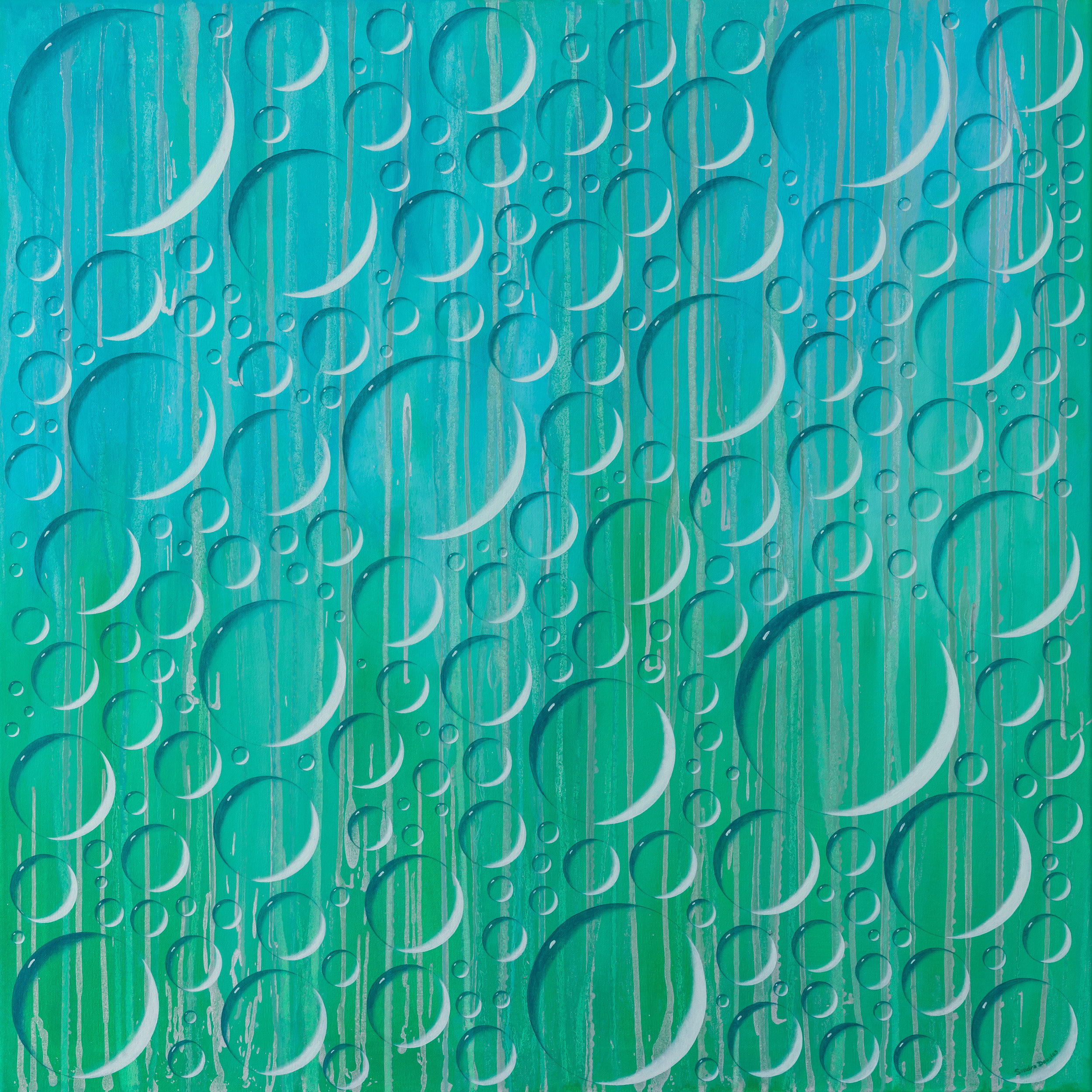 """Electric Rain, 36""""x36"""""""
