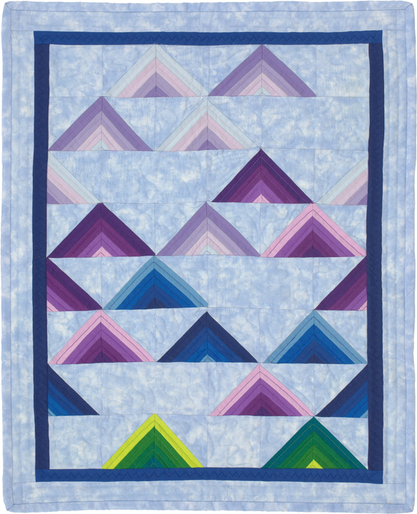 "KayLynn Designs Blog - Modern Quilts from Traditional Patterns - ""Catskill Mountainscape"" Designed by Kathryn Greenwold, Pieced & Quilted by Mary McNamara"