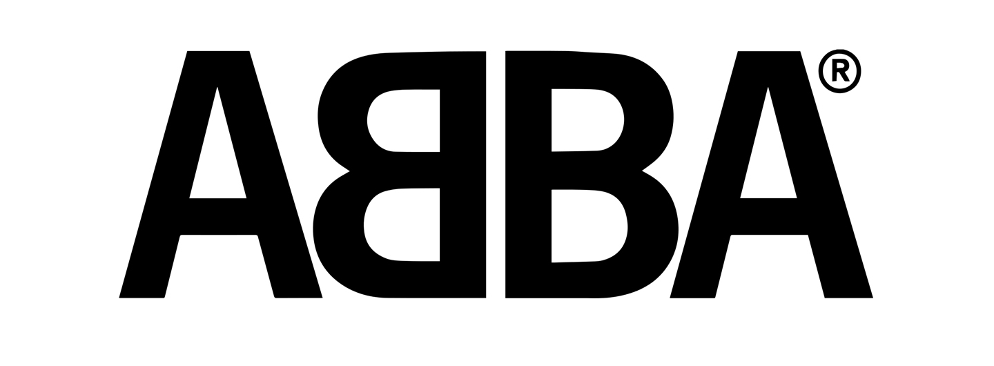 Staying power: first spotted in 1976,  Rune Söderqvist's ABBA logo was used for over 10 years.