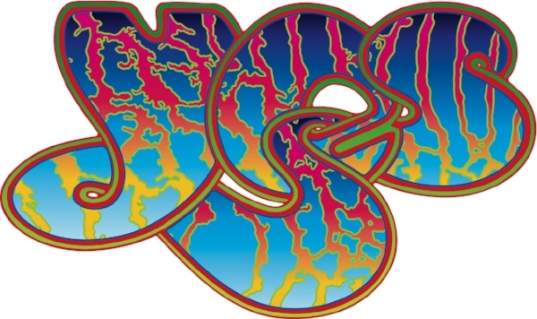 Affirmative action: Roger Dean's Yes logo takes 'bubble writing' to a new level.