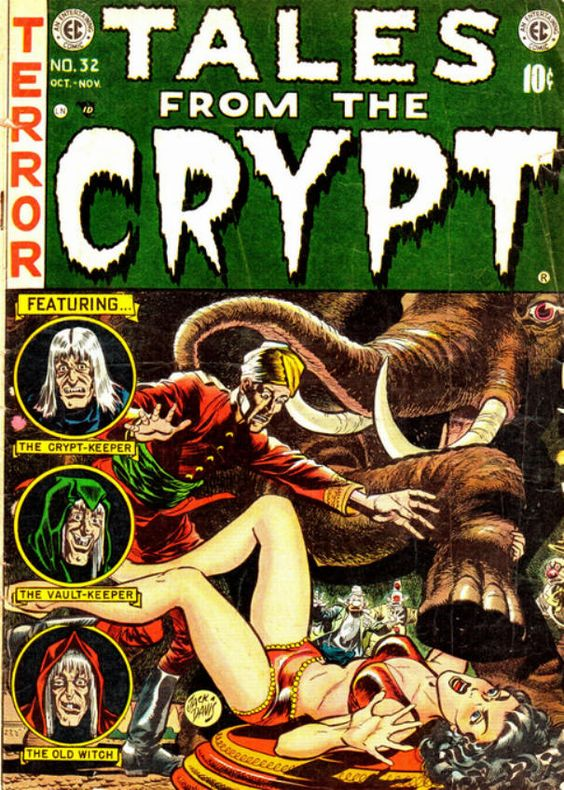 Frighteners: The bi-monthly 1950s comic was accused of fostering 'juvenile delinquency'.