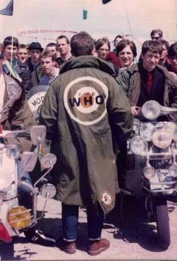 We are the Mods: a wearable, home-made version of the logo.