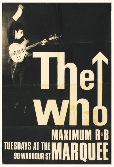 Strike a chord: the typographic version of the logo was designed by advertising art director Brian Pike. He created it specially for a poster touting The Who's Tuesday night residency at The Marquee Club, which kicked off in November 1964. Pete Townshend later had the idea of superimposing it on to an RAF roundel.