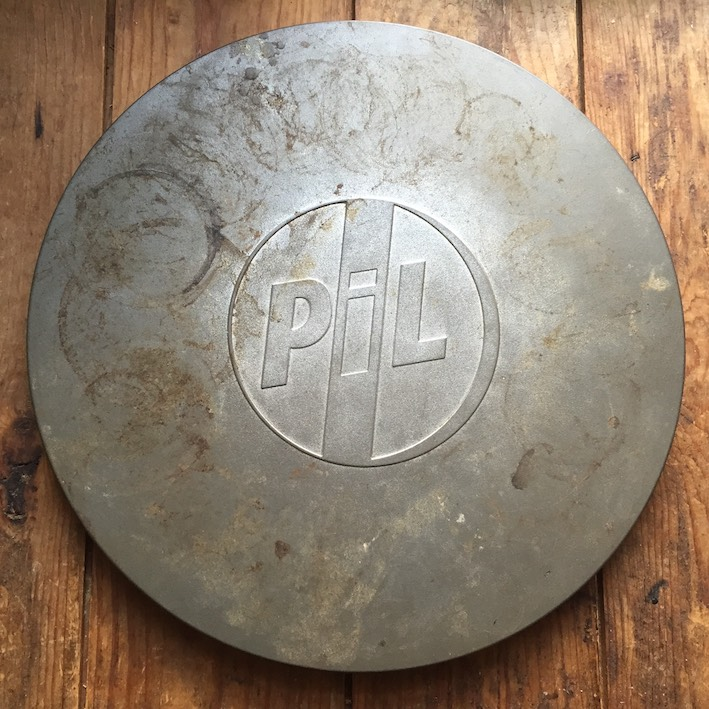 Ring of ire: Ms Thompson's personal copy of PiL's 'Metal Box' has lived a bit.