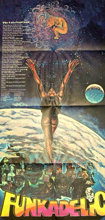 Rock bottom: Kathy Abel's poster used the classic Funkadelic logo for the first time.