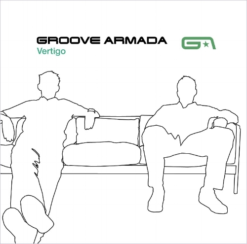 Sofa so good: Groove Armada's second album, Vertigo, went gold in 1999, sporting a green variant of the logo. Zip's Neil Bowen provided the illustration.