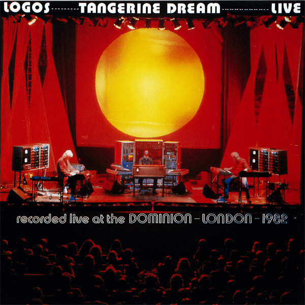 Logos agogo: In late 1982, TD toured Europe, performing 31 gigs in Austria, Hungary, Yugoslavia, the UK, Belgium, West and East Germany. Logos Live features sections of their concert at the Dominion Theatre in London. Cover photo by Monique Froese.